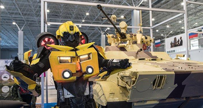 La feria 'Robotización de las Fuerzas Armadas de Rusia' en el recinto ferial Patriot de la región de Moscú