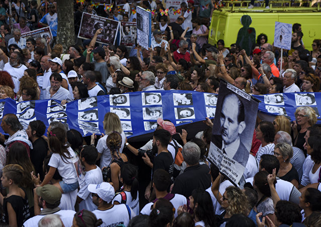 Marcha en el Día de la Memoria en Buenos Aires