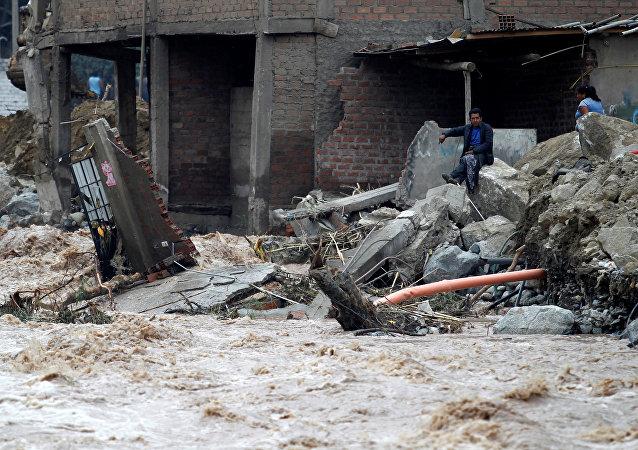 Inundación en Perú