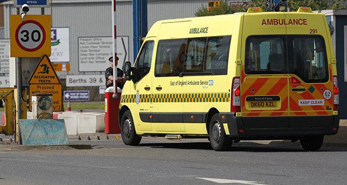 Una ambulancia británica (Archivo)