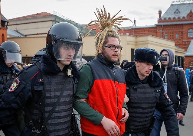 Detenciones durante marchas opositoras en Rusia