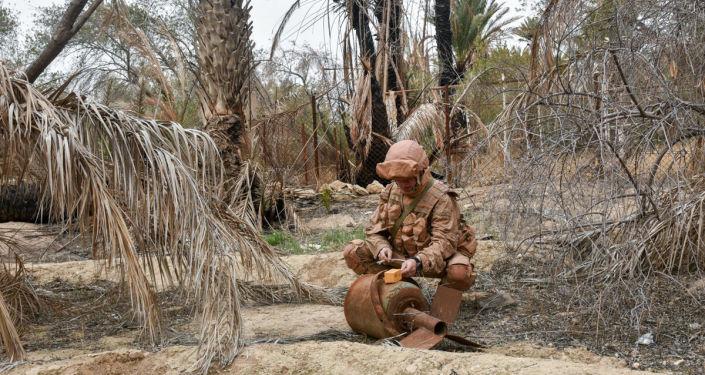 Militar ruso en Palmira