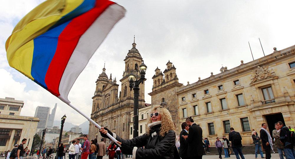 Manifestación por la paz en Bogotá, Colombia