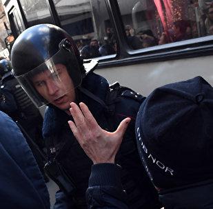 Manifestación en el centro de Moscú el 26 de marzo 2017