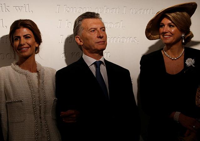 Juliana Awada, Mauricio Macri y reina Máxima