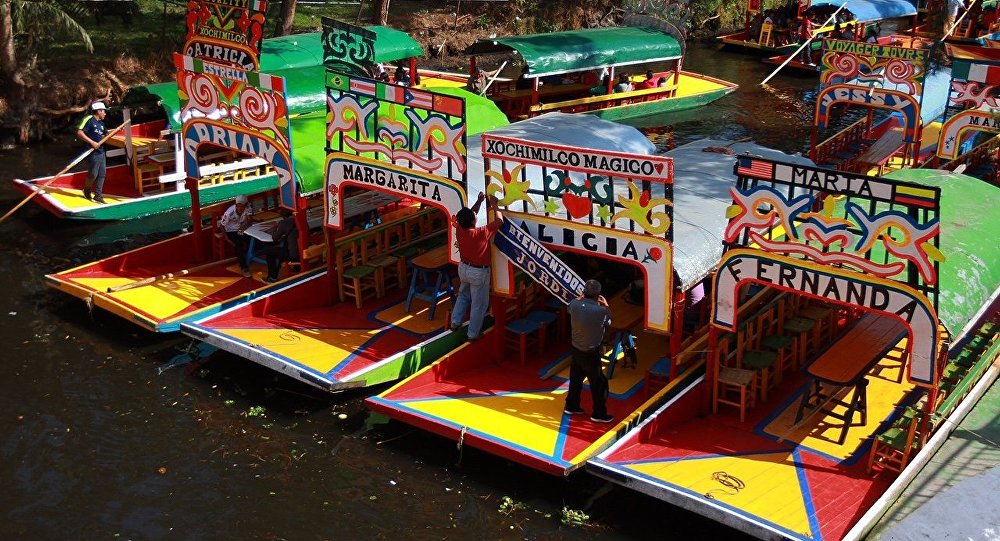 Las trajineras, típicas embarciones mexicanas