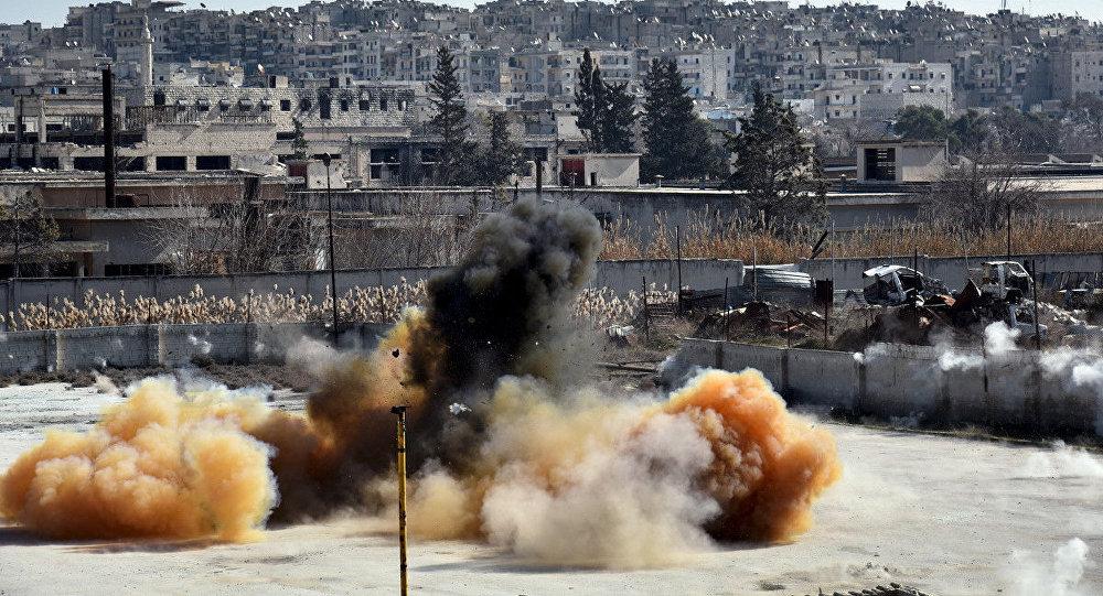 Ingenieros militares rusos desminan las infraestructuras de transporte de Alepo