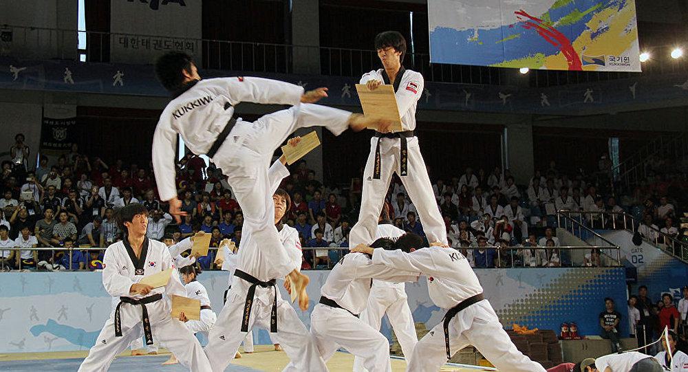 Demostración de Taekwondo en Corea