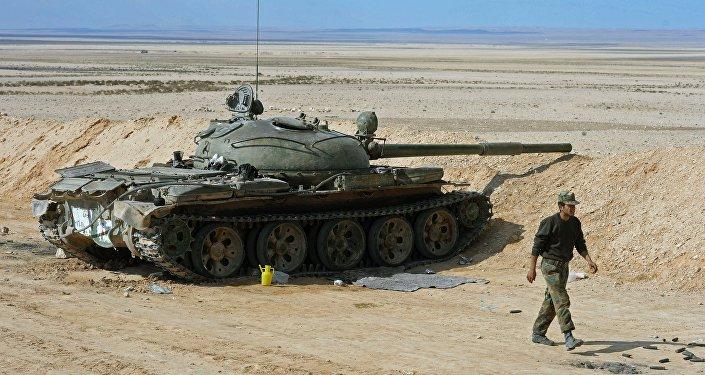 Tanque ruso T-62 en Siria (archivo)