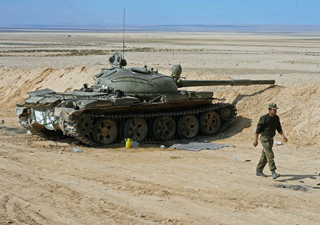 Tanque T-62 en Siria (Archivo)