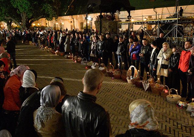 La celebración de Pascua en Kiev (archivo)
