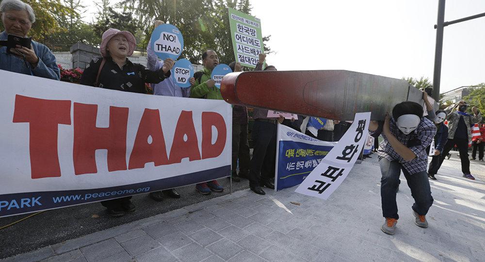 Imagini pentru protestas thaad