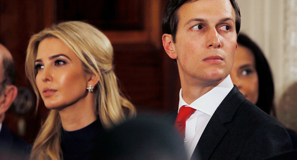 Ivanka Trump, hija de Donald Trump, y su marido Jared Kushner, asesor del presidente de EEUU, Donald Trump