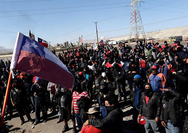 Huelga en Chile