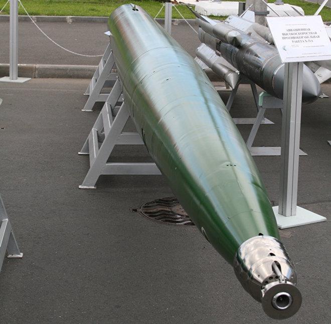 Un torpedo Shkval en exposición