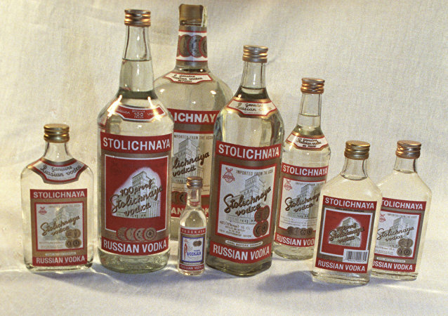 Botellas de vodka Stolíchnaya (archivo)