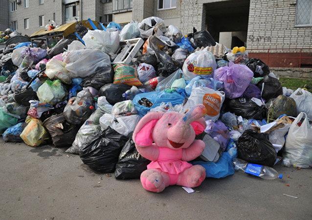 Residuos en la ciudad de Lvov