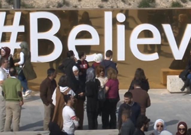 #BelieveInAleppo: la ciudad liberada inaugura un especial monumento