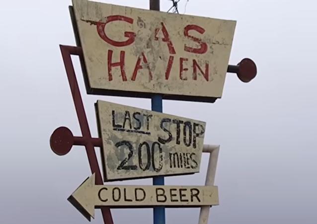 Estación de gasolina abandonada