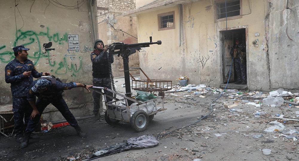 La policía federal de Irak en Mosul