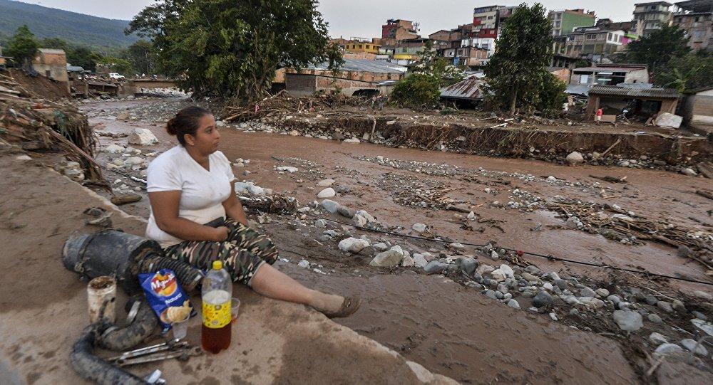 Una mujer en Mocoa, Colombia