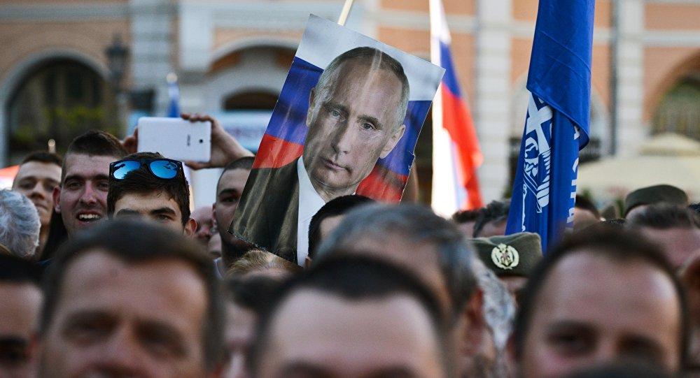 Una manifestación en Serbia (archivo)