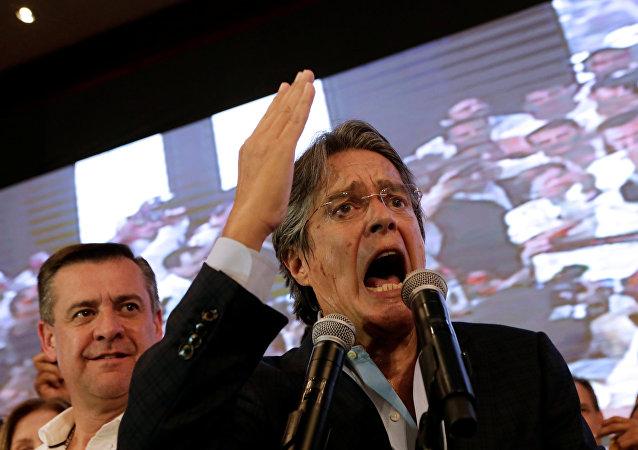 Guillermo Lasso, candidato presidencial por la oposición en Ecuador