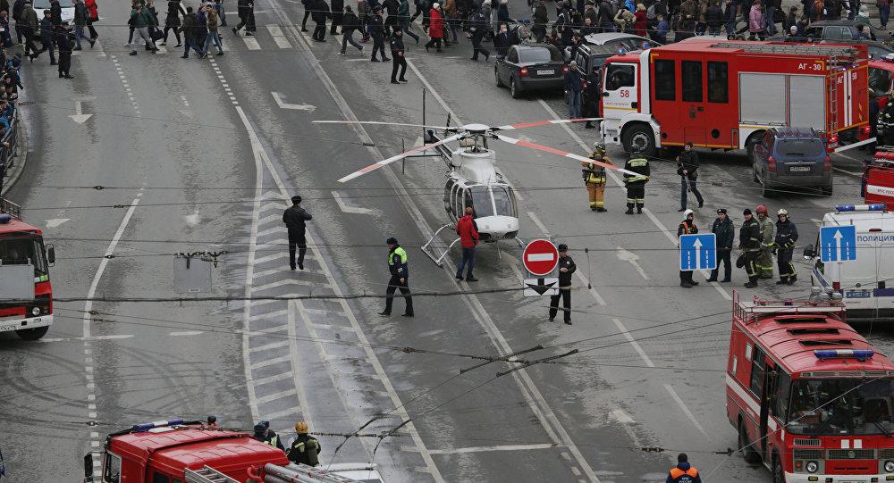 Un helicóptero cerca del lugar del incidente