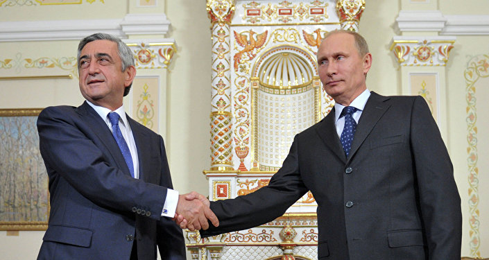 Presidente de Armenia, Serzh Sargsián, y presidente de Rusia, Vladímir Putin (archivo)
