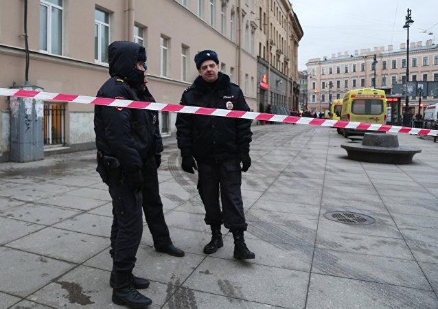 La policía rusa