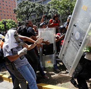 Choques en Caracas