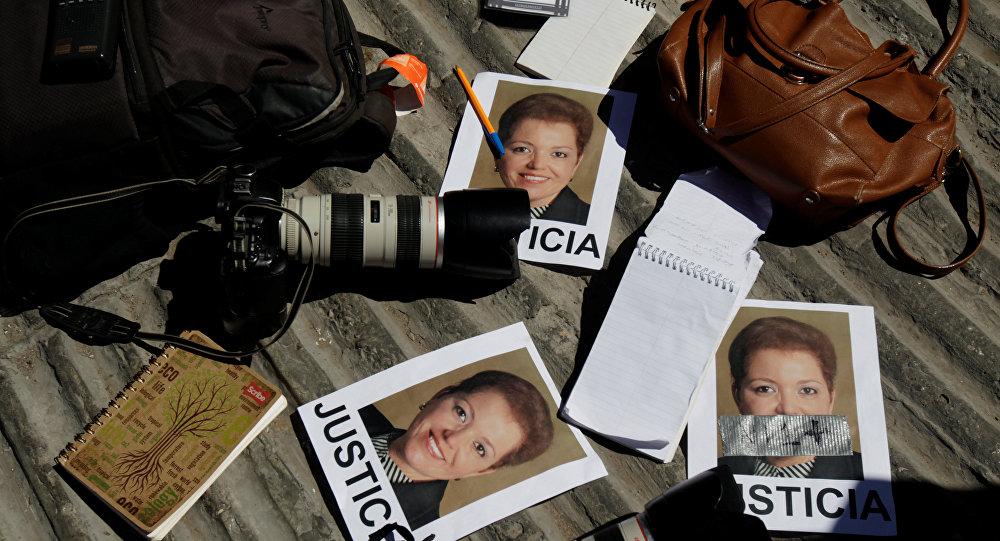 Los retratos de la periodista Miroslava Breach, asesinada en Chihuahua, México (archivo)