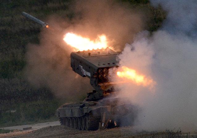 Resultado de imagen para sistema de lanzacohetes incendiarios Solntsepiok