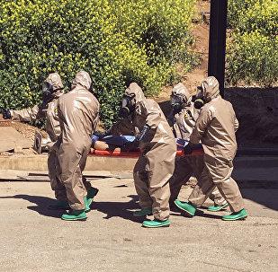 Víctima del ataque químico en Idlib