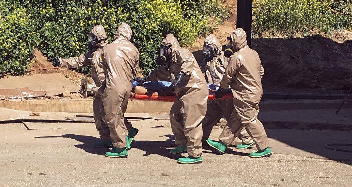 Víctima del ataque químico en Idlib (archivo)