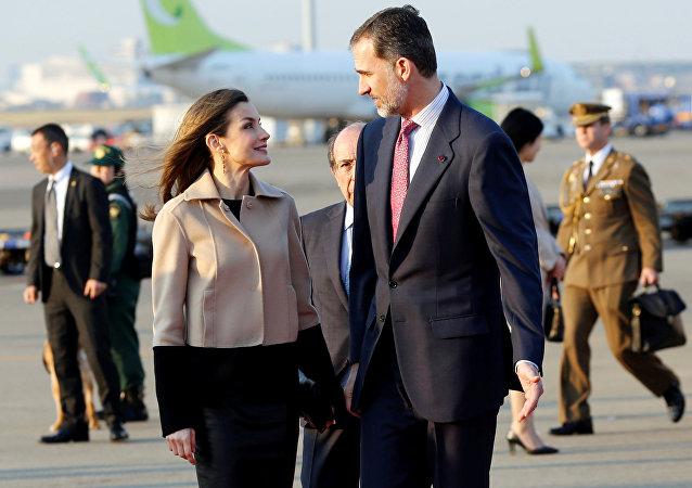 El rey de España Felipe VI y la reina Letizia arribaron a Tokio el 3 de abril en el marco de su primer viaje oficial al continente asiático.