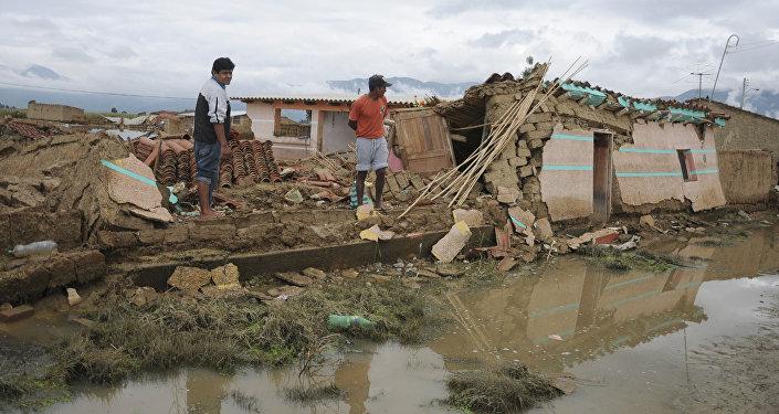 Inundación en Bolivia