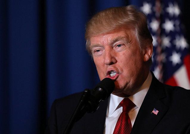 Trump da un discurso tras el ataque estadounidense a Siria
