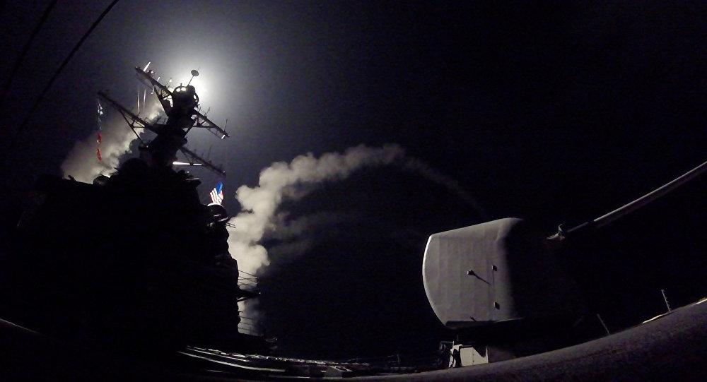 Lanzamiento de misil crucero Tomahawk