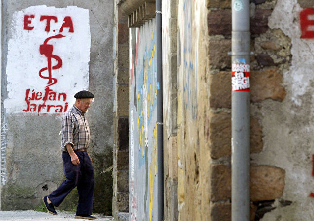 Un grafiti de apoyo a ETA