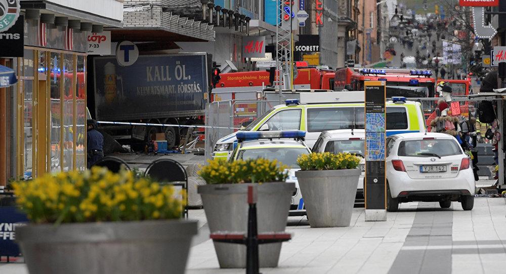 Lugar del atropello en Estocolmo