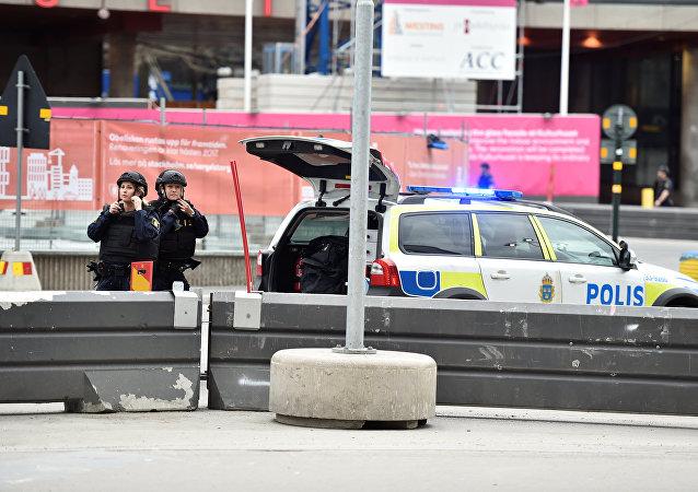 Policías en Estocolmo (archivo)