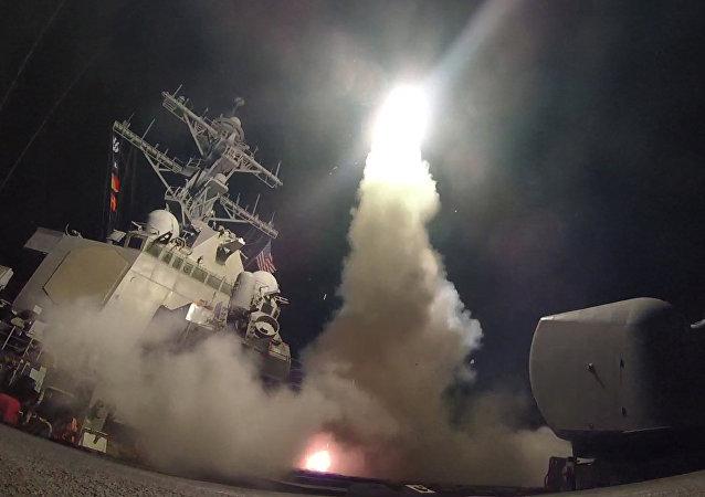 Fotos del ataque de EEUU contra Siria con los misiles de crucero en abril de 2017 (archivo)