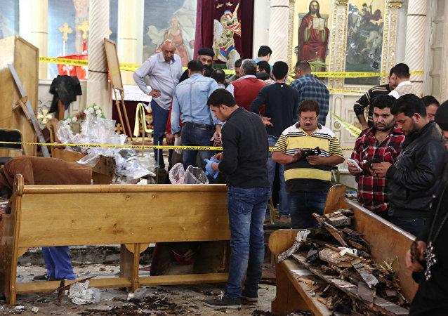 Explosión en la iglesia copta de Mar Girgis el 9 de abril de 2017