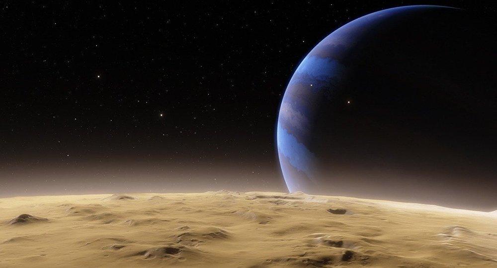 Un planeta en el espacio (ilustración)