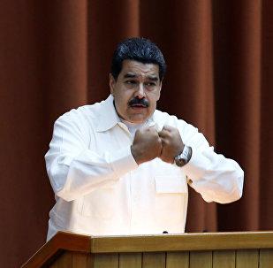 Nicolás Maduro, presidente de Venezuela, durante la clausura del Consejo Político de la Alianza Bolivariana para los Pueblos de Nuestra América