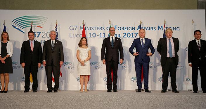 Los ministros de Exteriores del G7 (Archivo)