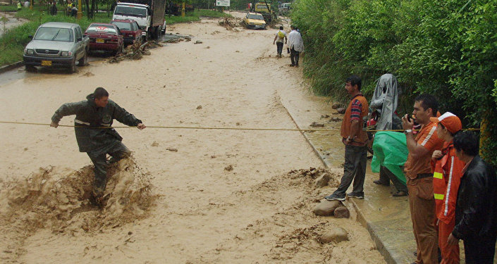 Inundación en Bucaramanga, Colombia (archivo)