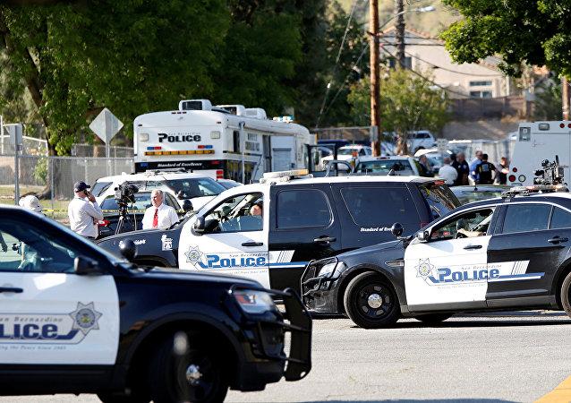 Policía en San Bernardino