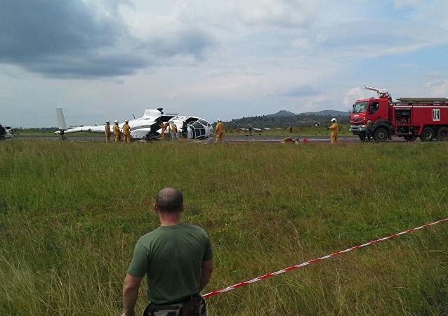 Helicóptero de la ONU realiza aterrizaje forzoso en el Congo